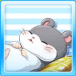 Sleeping hamster - Grey