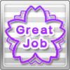 Great Job Stamp Purple x10