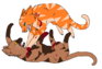 Fighting cats lineart by time of dispair-d50hyfi