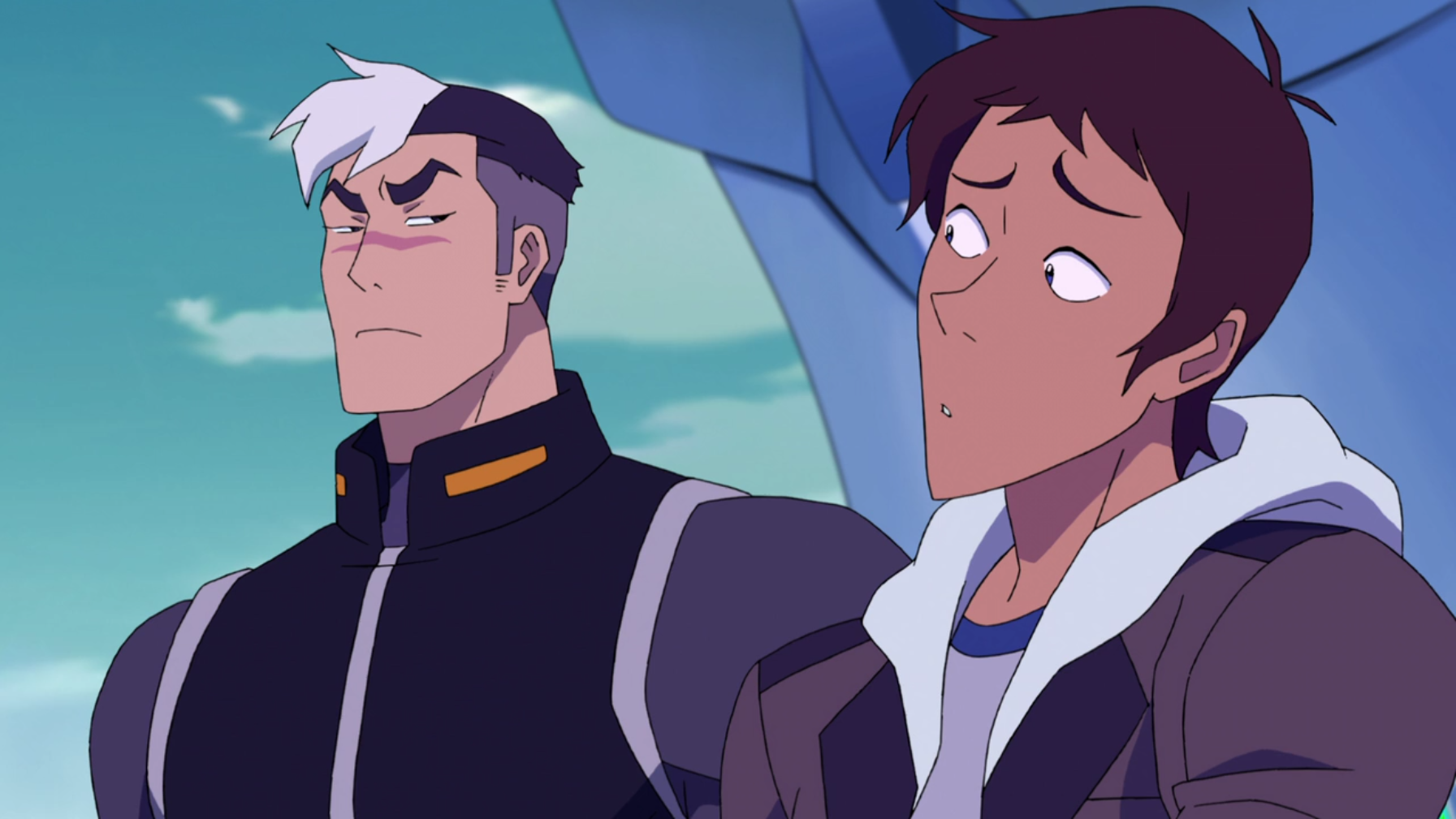 Shiro gives Lance the Team Dad glare