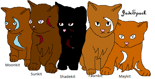 File:Five kittens lineart by jadespark-d3gczug.png