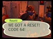 Reset Code 64