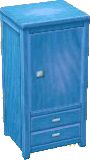 Light blue wardrobe