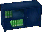 Dark blue bookcase