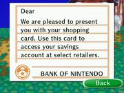 Shopping card letter