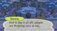 Serena crying