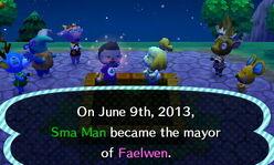 Mayor tree ceremony