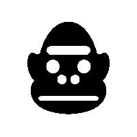 File:GorillaSpeciesIconSilhouette.png