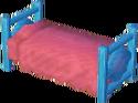 Light blue bed