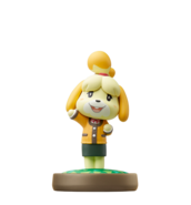 Isabelle amiibo figure (winter)