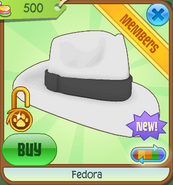 Shop Fedora White