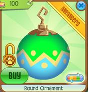 Shop Round-Ornament Zigzag-Green