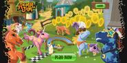 Animal jam horse login sceen