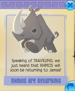 Rhinos are returning