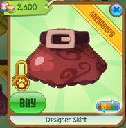 Designer Skirt (Red)
