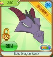 Epic Dragon Mask (Purple-Gray)