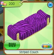 Striped Couch (Purple)