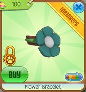 Shop Flower-Bracelet Green