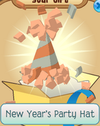 Monthly-Member-Gift New-Year's-Party-Hat Orange crop