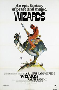 Wizards 1977 poster with peace