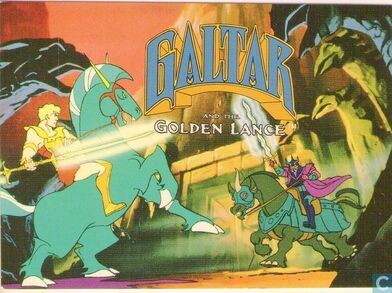 Galtar and the golden lance trading card front