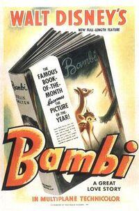 Walt Disney's Bambi poster