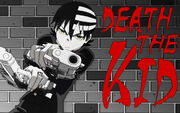 Death-the-kid wielding his weapons