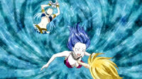 Lucy summon A inside Juvia's body