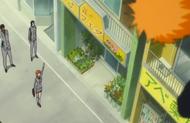 Ichigo passes by his friends