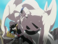 Kurodo prevents Patros from resheathing his weapon