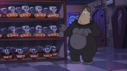 S1E12 Soos in Gorilla suit