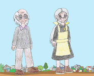 Human lbt littlefoot s grandma and grandpa by animedalek1-d798hvs