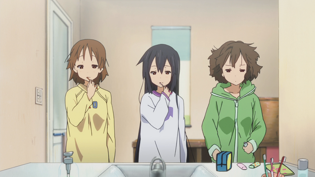 File:K-On Ui, Azusa and Jun tired.png