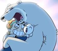 Crying mother polar bear with Gustav in The Other Exchange Student