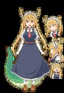 Tohru (Miss Kobayashi's Dragon Maid) Anime Concept Art