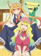 Kobayashi-san Chi no Maid Dragon BD DVD Vol 3