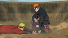 Naruto pinned down