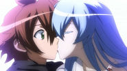 Tatsumi and Esdeath's First Kiss (Akame ga Kill Ep 10)