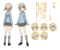 Aki anime concept art (Girls und Panzer)