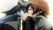 Esdeath steals Tatsumi's second kiss (Akame ga Kill Ep 14)