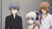Shunsuke, Nao, and Kumagami (Charlotte Ep09)