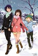 Noragami (Newtype 2014-04) Yato, Yukine, Hiyori