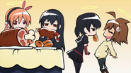 Kurome, Akame, Chelsea, Tatsumi (Akame ga Kill ONA 24)