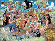 One Piece Ch 784 and US Weekly Shonen Jump Issue April 27 2015 Color Spread