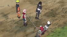 Team 7 confronts Omoi & Karui