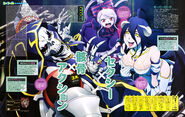 Overlord Albedo, Ainz, and Shalltear (Animage July 2015)
