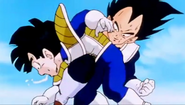 Vegeta kneed gohan in the stomach2