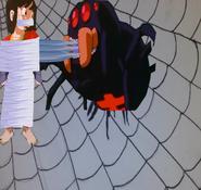 Dbgt pan tied up gagged in spider web