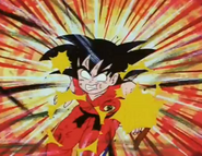 Tambrine kneed kid goku in the stomach4