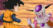 Frieza fights goten
